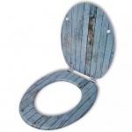 Toilettensitz WC-Sitz MDF Holz Design