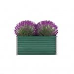 vidaXL Gartenpflanzen Verzinkter Stahl 100x40x45 cm Grün