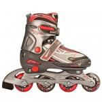 Nijdam Junior Inline-Skates 27-30 anthrazit/silber/fuchsia 52SR