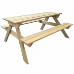 Hölzerner Picknicktisch 150 x 135 x 71, 5 cm