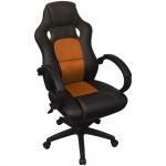 vidaXL Executive Racing Bürostuhl Orange Kunstleder