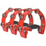 vidaXL Tamburin Set 3 Stk. Kunststoff Rot