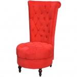 vidaXL Sessel mit hoher Lehne Rot