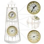 vidaXL Uhr mit Thermometer Nostalgie
