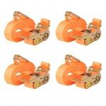 vidaXL Ratschen-Spanngurte 4 Stk 0, 4 Tonnen 6m×25mm Orange