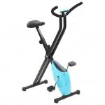 vidaXL Heimtrainer X-Bike Gurtwiderstand Blau
