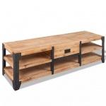 vidaXL TV-Lowboard Massives Akazienholz 140 x 40 x 45 cm