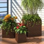 3 x Blumentopf Blumenkübel Übertopf Pflanzenkübel Braun