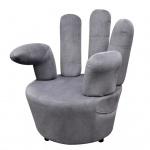 vidaXL Stuhl in Handform Samt Grau