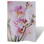 Foto-Paravent Paravent Raumteiler Blumen 120 x 180 cm