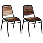 vidaXL Esszimmerstühle 2 Stück Recyceltes Massivholz 44 x 59 x 89 cm