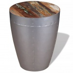 vidaXL Sitzhocker im Retro-Industrie-Design Recyceltes Massivholz 36 x 44 cm