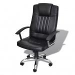Luxuriöser Bürostuhl Qualitätsdesign Schwarz 65 x 66 x 107-117 cm