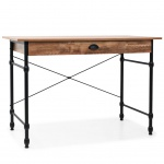 vidaXL Schreibtisch mit Schublade 110 x 55 x 75 cm Eichenfarbe