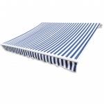 Sonnenschutz Blau & Weiß 4 x 3 m (Rahmen nicht enthalten)
