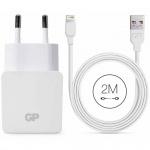 GP USB-Ladegerät WA23 mit Lightning-USB-Kabel 2 m 150GPWA23CB21C1