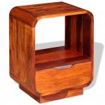 vidaXL Nachttisch mit Schublade Massives Sheesham-Holz 40 x 30 x 50 cm