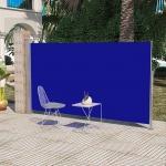 Terrassenmarkise Seitenmarkise 160 x 300 cm Blau