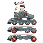 Nijdam Junior Inline-Skates 34-37 grau/rot/weiß 52QM