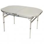 Camp Gear Klapptisch Camping Oval Weiß Aluminium 1404414