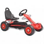 vidaXL Pedal Go-Kart mit Luftreifen Rot