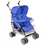 vidaXL Baby Reise-Kinderwagen 5 Liegepositionen Blau