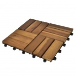 10 x Fliese aus Akazienholz 30 x 30 cm