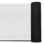 vidaXL Maschendraht HDPE 10 x 0, 6 m Schwarz