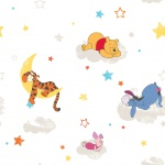 Kids at Home Tapete Pooh Rise and Shine Weiß DF70799