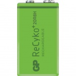 GP ReCyko+ Wiederaufladbarer Akku 9 V 200 mAh 12020R8HC1