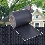 Sichtschutz Zaunabdeckung PVC Dunkelgrau 70 x 0, 19 m