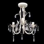 Kronleuchter Pendelleuchte Kristall Lampe Lüster Leuchte weiß