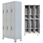 vidaXL Schließfachschrank mit 6 Fächern Stahl 90x45x180 cm Grau