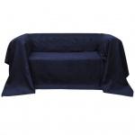 Micro-Suede Sofaüberwurf Tagesdecke Marineblau 140 x 210 cm