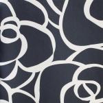 DUTCH WALLCOVERINGS Tapete Rosen-Design Dunkelblau 12005