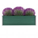 vidaXL Gartenpflanzen Verzinkter Stahl 160x40x45 cm Grün