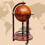 vidaXL Globus-Bar mit Flaschenregal Holz