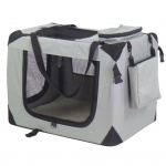 @Pet Haustier-Transporttasche Nylon 90 x 61 x 65 cm Grau 11074