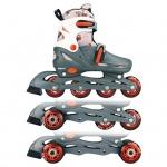 Nijdam Junior Inline-Skates 30-33 grau/rot/weiß 52QM