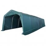 vidaXL Weidezelt PVC 550 g/m² 3, 3 x 9, 6 m Dunkelgrün