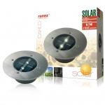 Ranex Solar Bodenstrahler Rund 0, 12 W Silber 5000.197