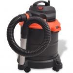 vidaXL Aschesauger 1200 W 20 L Schwarz und Orange