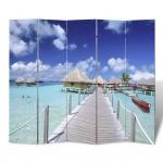 Foto-Paravent Paravent Raumteiler Strand 200 x 180 cm