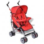 vidaXL Baby Reise-Kinderwagen 5 Liegepositionen Rot