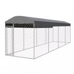vidaXL Outdoor-Hundezwinger mit Überdachung 800 x 200 cm