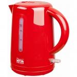 Bestron Elektrischer Wasserkocher 1, 7 L Rot 2200 W AWK300HR