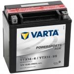 VARTA Powersports Motorradbatterie AGM YTX14-4/YTX14-BS