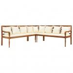 vidaXL 3-tlg. Gartensofa mit Auflagen Akazie Massivholz