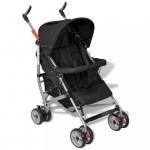 vidaXL Baby Reise-Kinderwagen 5 Liegepositionen Schwarz