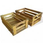 vidaXL Apfelkisten-Set 2 Stk. Massives Akazienholz